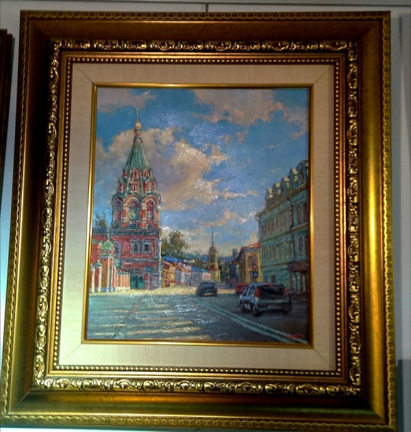 """Картина """"Ул Большая Полянка"""", художник Дотанин, Москва."""