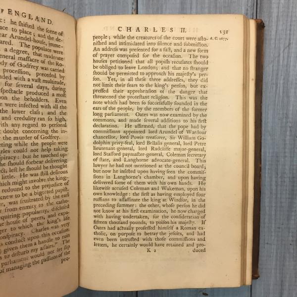 Книга «History of England» London MDCCLIX (1749 г.), 478 страниц, жесткий переплет