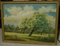 "Картина ""Пейзаж с цветущими липами"", 2 пол. XX в."