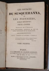 Les sources du Susquehanna ou Les Pionniers, Par M. Cooper, Paris 1825 г.