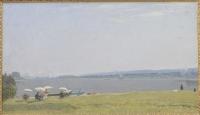 """Картина """"На пленере"""", Художник Якупов Х.А., 1948 г."""