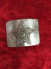 """Бляха звезда """"серп и молот"""", материал сплав."""