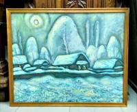 """Картина """"Якты төн"""" (перев. с тат. """"Светлая ночь""""), художник  Зарипов И.К., 1992 г."""