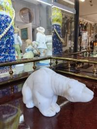 """фигурка """" Полярный медведь"""" высота 7см.  Мыльный мрамор"""