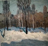 Зимний пейзаж, Салмин М.А., 1980 г.