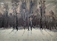 Зима, пейзаж, Салмин М.А.