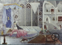 "Открытка ""Спящая красавица"", Англия, кон. ХХ в."