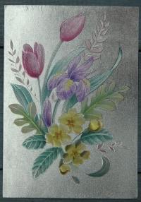 "Открытка ""Весенний букет"", Англия, кон. ХХ в."