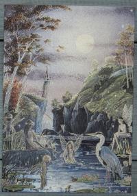 """Открытка """"Волшебное озеро"""", Англия, кон. ХХ в."""