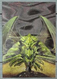 "Открытка ""Зелёный дракон"", Англия, кон. ХХ в."