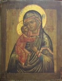 """Икона """"Феодоровская Пресвятая Богородица"""", XIX в."""