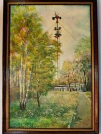 "Картина ""Телевышка"", художник Бусыгина Т. 2002г."