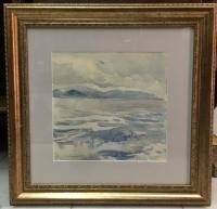 """Картина """"Серый день. Эгейское море"""", 1961 г."""