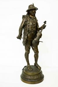 "Скульптура ""Скрипач"", Франция, XIX в."