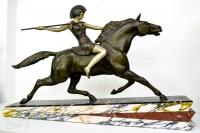 """Скульптура """"Пентесилея - Царица амазонок"""" (участвовала в бою под Троей), нач. ХХ в."""
